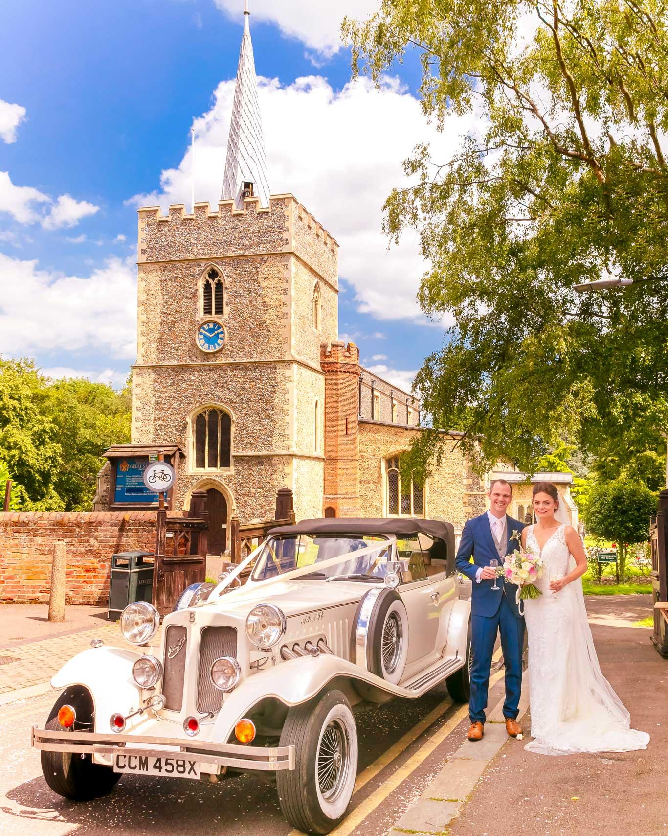 Bride & Groom at Great St Mary Sawbridgeworth